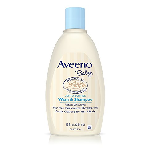 Aveeno Baby Gentle Wash & Shampoo with Natural Oat Extract, Tear-Free &, Lightly Scented, 12 fl. oz