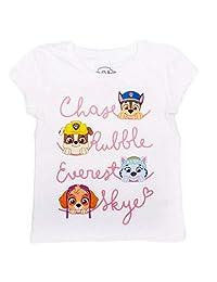 Nickelodeon JR Paw Patrol - Toddler Girl's Short Sleeve T-Shirt, Cloud Dancer White