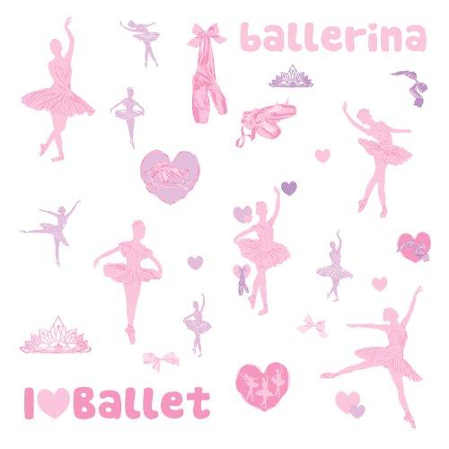 RoomMates RMK1656SCS Ballet Peel & Stick Wall Decals w/Glitter
