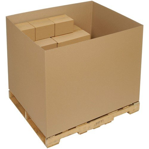 (Bulk Cargo Container - Double Wall Gaylord Bottom Container - 48x40x36