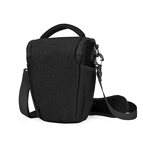 - Rampmu Camera Bag Case, Water Repellent Shockproof Sling Camera Holster, Digital SLR/DSLR/Mirrorless Camera Shoulder Bag with Adjustable Crossbody Strap for Nikon, Canon, Sony, Fuji Instax etc, Black