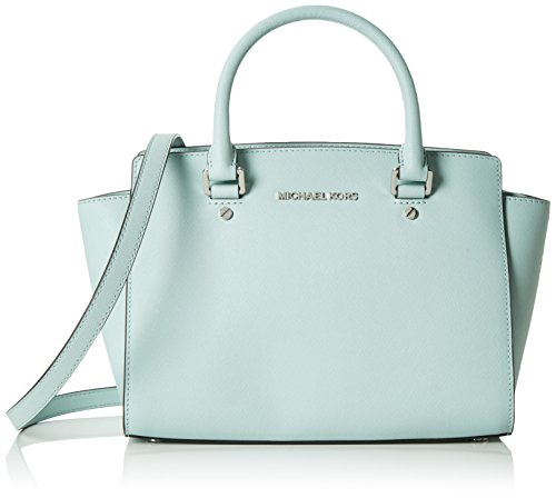 MICHAEL Michael Kors Selma Medium Saffiano Leather Satchel (Celadon) by Michael Kors