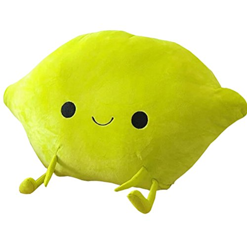 MYtodo Creative Fruit Oranges Mango Peach Pillow Cushion Chair Pad plush toy Birthday Gift (Lemon)