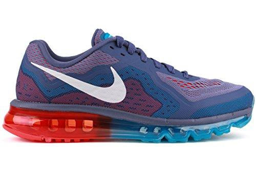 Nike Men's Air Max 2014 Bl Recal/Wht/Vvd Bl Lt Crmsn Running Shoe 7.5 Men US
