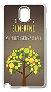 2015 popular Be someone's Sunshine Case for Samsung Galaxy Note 3 N9000,when their skies are grey phone Case for Samsung Galaxy Note 3 N9000.