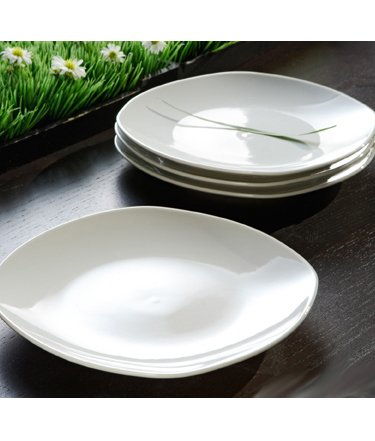 White Square Side Plates - Set of 4 By Moda  sc 1 st  Amazon.com : white square side plates - pezcame.com