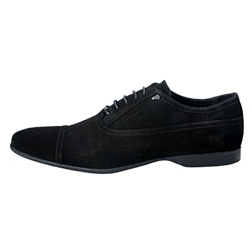 Versace-Collection-Mens-Black-Nubuck-Leather-Oxfords-Shoes-US-11-IT-44