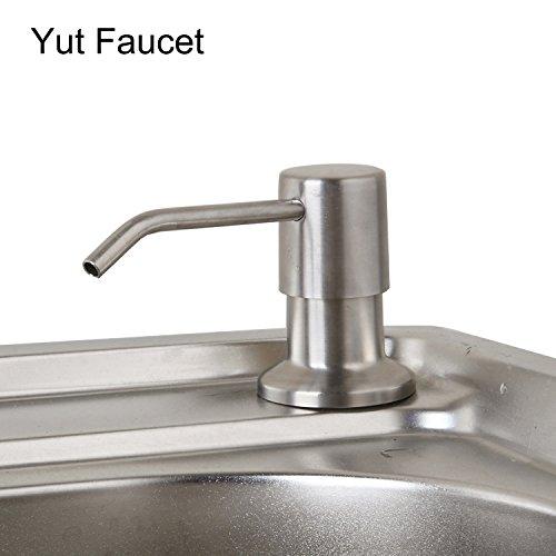 en Sink Accessories Pump Soap Dispenser Foam Liquid Bottle Stainless Steel Deck Mount (Si Foam)