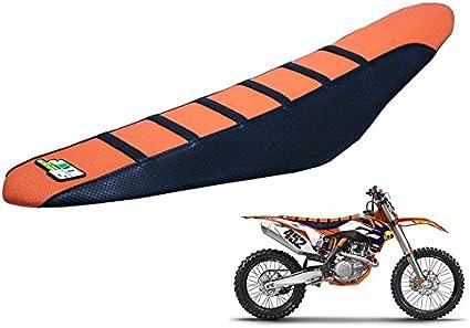 Moto Gripper Soft Moto Housse de Si/ège pour 65 85 125 200 250 300 400 450 525 SX EXC MXC 03-07 Orange//Noir