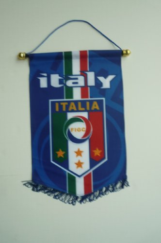 ITALIA ITALY BADGE LOGO FOOTBALL SOCCER PENNANT BANNER by FIGC