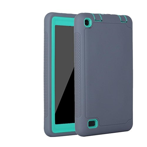 Price comparison product image Kid Rugged Shockproof Case, Ounice Hybrid Protective Case Cover for Amazon Kindle Fire 7 2015 Tablet (D)