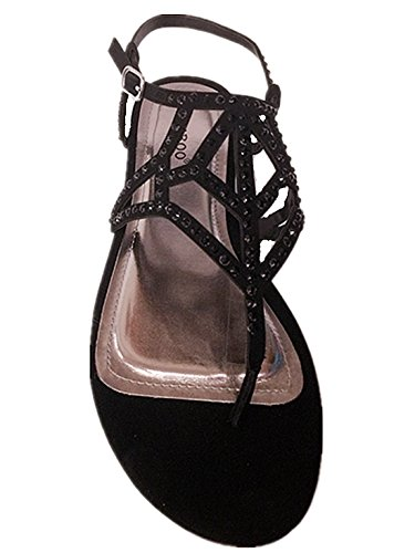 Sandali Con Cinturino Alla Caviglia Con Cinturino Alla Caviglia Per Donna Con Strass In Bambù