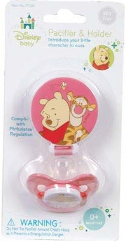 Winnie Pooh Pacifier and Holder 6 pcs sku# 1858357MA by DDI