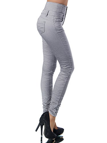 jeans JeansSkinny Uni Femme Gris Diva n0kwO8P