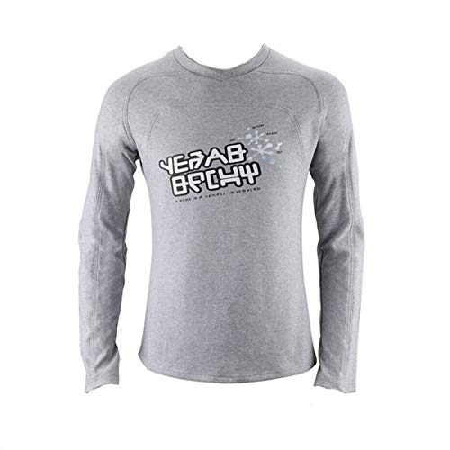 Star-Lord T-Shirt Peter Jason Quill Cosplay Costume Long Sleeve T-Shirts Guardians of The Galaxy 2 (Gray, XL)]()