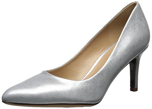 Naturalizer Women's Natalie Pump Silver 6.5 Medium US ()