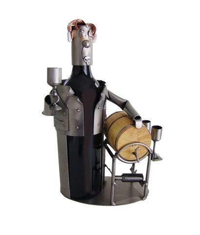 Wine Taster Wine Bottle Holder or Wine Caddy from H&K Steel Sculpture - 6155-LI