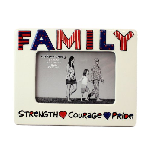 Patriotic Family Picture Frame by Our Name is Mud ()