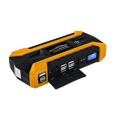 600A 20000mAh/89800mAh 12V Car Jump Starter with USB fast charging built-in LED lighting/SOS signal light/safety hammer/compass Multi-function waterproof design (3 colors optional)