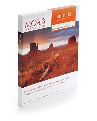Moab White Inkjet Paper - Moab Entrada Rag Fine Art, 2-Side Bright White Matte Inkjet Paper, 22.5 mil., 30