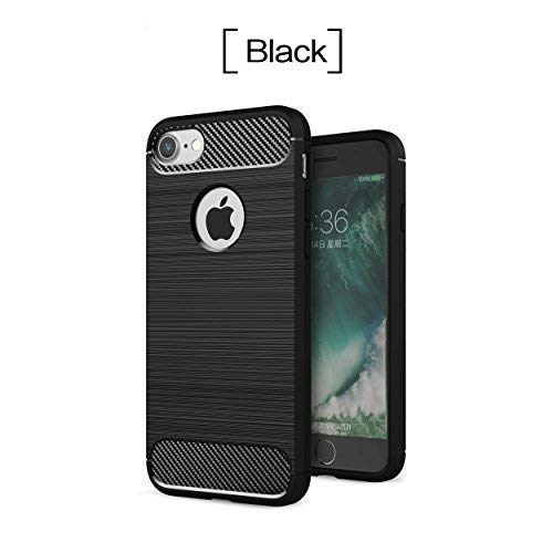 (iPhone 7 Case iPhone 8 Case EYMEN Carbon Fiber Design Shockproof Durable Heavy Duty Case for iPhone 7 and iPhone 8)