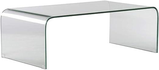Mesa de Centro Cristal Templado ancho especial de 60cm: Amazon.es ...
