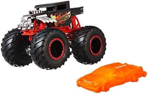 Hot Wheels GNJ57 - Monster Trucks 1:64 Spielzeugauto Die-Cast Bone Shaker, Spielzeug ab 3 Jahren
