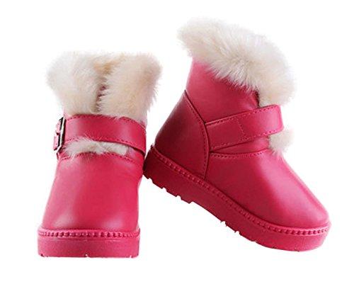 DEHANG – Bottes de Neige Enfant Fille – Boots PU chaude Hiver – Pêche