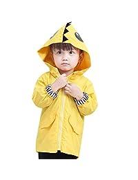 EISHOW Adorable Toddler Kids Baby Boy Girl Duck Raincoat Cartoon Design Jacket Coat Fall Winter Hooded Outwear School Oufits