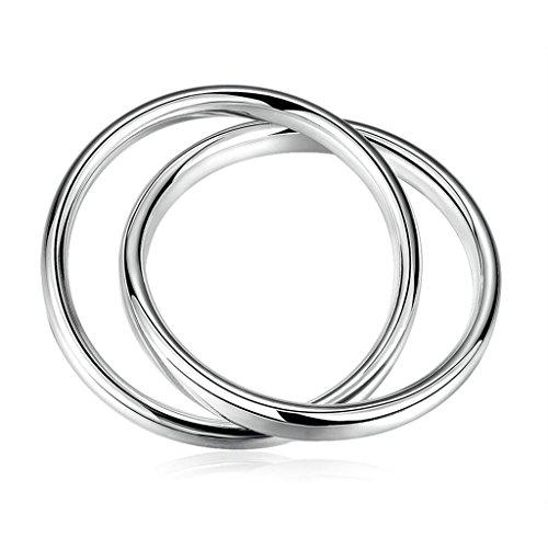 Silver Plated Bangle, Women's Charm Bangle Two Cricle Silver - Macy's Dallas Tx