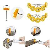 HIPOGT 40pcs Abrasive Wheel Aluminum Polishing Kit
