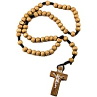Unique Catholic Praying Rosary Jesus Crucifix Jerusalem Olive Wood Beads 12.4