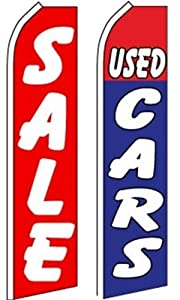 Car Auto Dealer Swooper Flutter Feather Flags 2 Pack