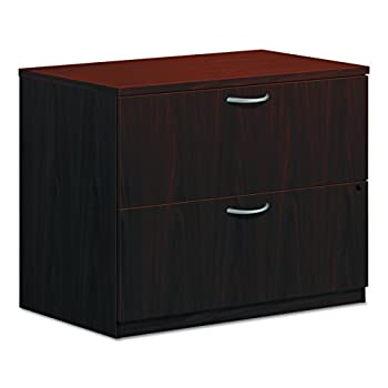 "HON 2-Drawer Office Filing Cabinet - BL Laminate Series Lateral File, 22"" D, Mahogany (HBL2171)"