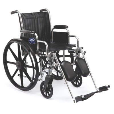 "Medline Excel 2000 Wheelchair, 20"" Wide Seat, Desk-Length Ar"