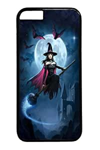 "Custom DIY Case for iphone 6, Witch's Flight Hard PC Back Protective Case for iphone 6 4.7"" Snap On Cover Black Case-155"