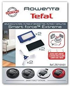 Rowenta ZR7101ES - Pack de 2 cepillos laterales y 4 filtros, accesorios para smart force extreme robot aspirador (2 filtros de polvo fino y 2 de foam): Amazon.es: Hogar