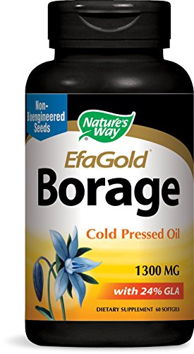Nature's Way Borage Oil 1300mg, 60 Softgels