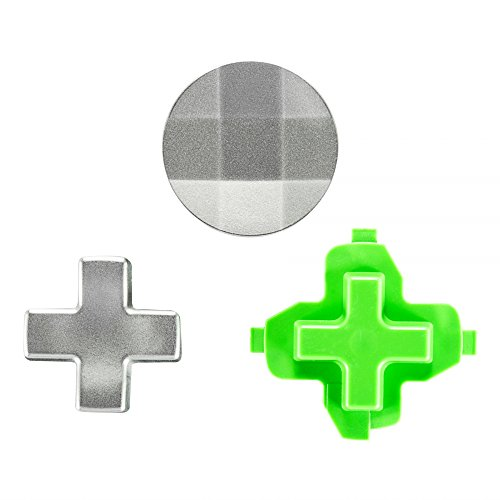 eXtremeRate 3 in 1 Magnetic Metal Stainless Steel D-pads Kits Replacement Parts Video Games Accessories for Xbox One Xbox One Elite Xbox One S