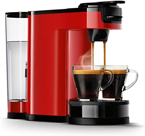 Senseo HD6592/80 - Cafetera (Independiente, Máquina de café en cápsulas, 1 L, De café molido, 1450 W, Negro, Rojo): Amazon.es: Hogar