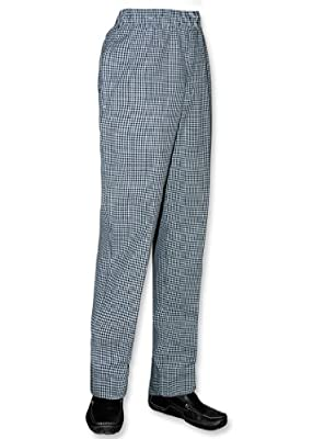 Newchef Fashion Black & White Woven Checkered Ladies Chef Pant