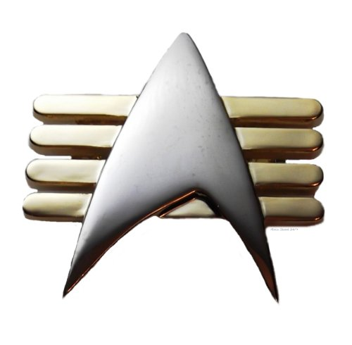 Star Trek Tng Future Imperfect Communicator Metal Uniform Pin -