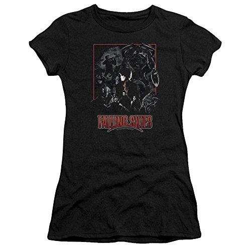 Pour Premium T Falling shirt Black Skies Femmes Jeunes Bella Collage 5ISqaYqw