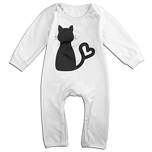 Tongbu Clipart Cat Heart Tail Baby's Bodysuit Climb Clothes Boy & Girl Soft Cotton Long Sleeve Romper Jumpsuit 12 (Halloween Cutouts Pinterest)