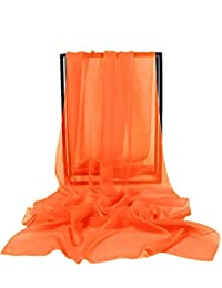 ThaliaDress Women Chiffon Shawls Wraps for Evening Dresses T002PJ Orange M