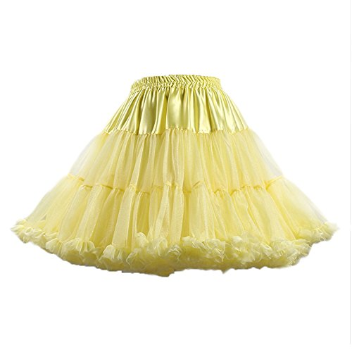 Femmes layer de Jaune Soie Multi PhilaeEC Tutu Jupon Jupe Ruffled Mousseline Clair Ballet Lolita adRnqwpB