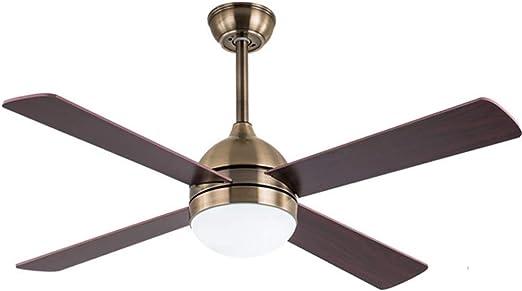 Luz de ventilador de techo de estilo americano, 48 pulgadas para lámpara de ventilador de techo