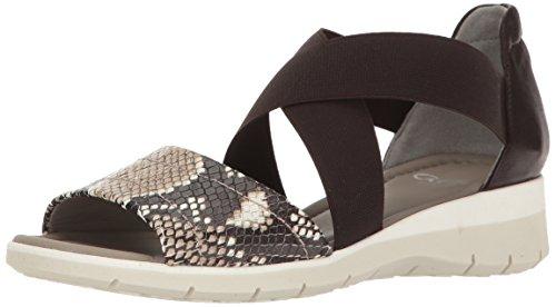 ara Women's Larissa Flat Sandal Taupe Snake/Calf rTtvJk