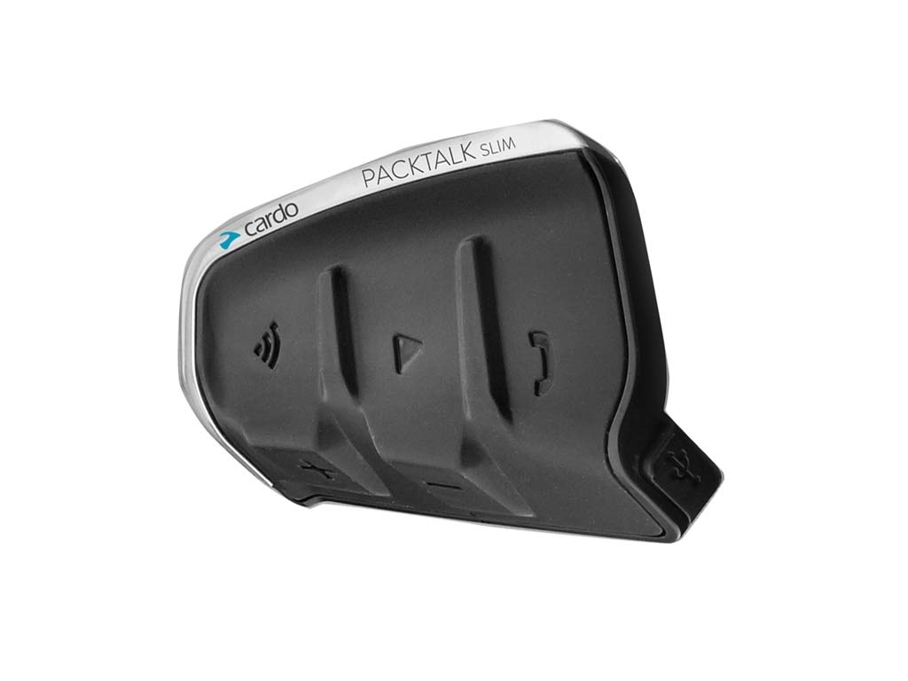 Citofono Cardo Packtalk Slim JBL Single Bluetooth Moto Interkom 1,2 km