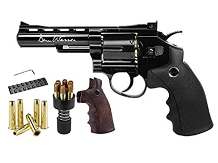 "Dan Wesson 4.5mm GNB CO2 4"" Dual Ammo, Dual Grip Revolver air pistol"